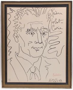 Pablo Picasso Frederic Joliet Curie Lithograph Red Signature # 136200 1959
