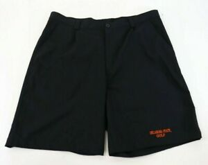 Under Armour Oklahoma State Golf Mens sz 38 Shorts Flat Front Black Team Issue