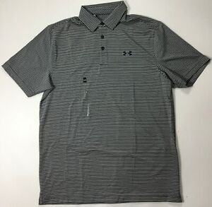 Under Armour MEN Athletic Golf Polo Loose 1291348 Navy Blue Grey Size M $29.99
