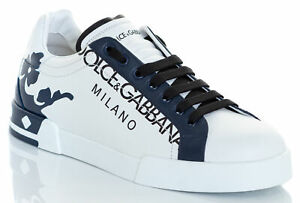 DOLCE & GABBANA Men's Portofino Sneakers Patent & Calfskin Leather