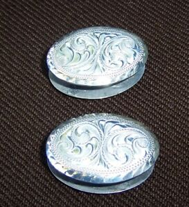 Sterling Overlay Concho Connectors for Romel Reins - Set of 2