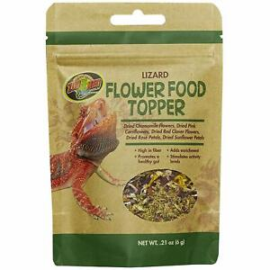 Zoo Med Flower Food Topper for Lizards 0.21 ounce