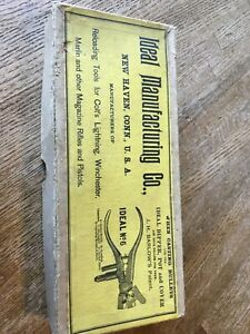 Antique Ideal Reloading Tool # 6 25-36 Marlin. Complete kit wPowder Warning.