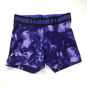 Under Armour Girls Youth Compression Shorts Purple Size XS  Small