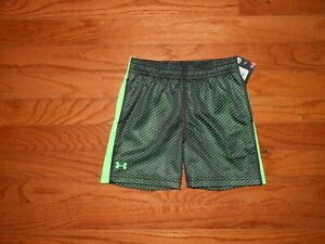 NWT Under Armour Toddler Boys black shorts Size 2T