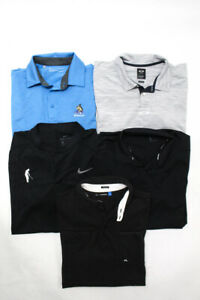 Under Armour Oakley Nike J. Lindeberg Mens Polo Shirts Blue Black Size M L Lot 5