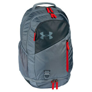 Under Armour UA Storm Hustle 4.0 Backpack - Ash Grey Red - NEW