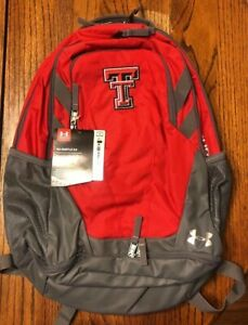 Tennessee Titans Under Armour Backpack Hustle 3.0 Red Gray New w Tags