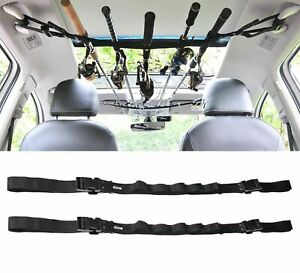 12Pcs Car Fishing Rod Rack Carrier Reel Combos Pole Holder Horizontal Mount New