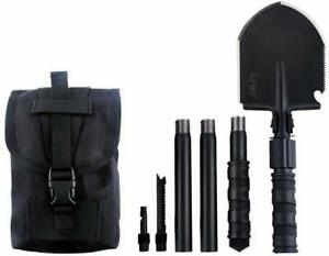 IUNIO Military Portable Folding Shovel and Pickax with Tactical Waist Pack Army