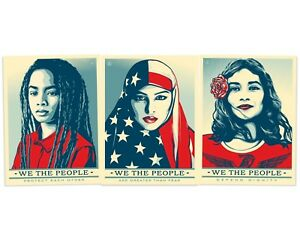 Set of 3 Shepard Fairey We the People I Am America Litho Posters Art Prints OBEY $81.99