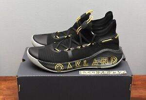 Under Armour Stephen Curry 6 VI Thank You Oakland Black Yellow Mens 3020612 006 $139.99