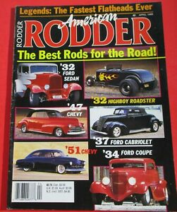AMERICAN RODDER MAGAZINE APRIL 1989...THE FASTEST FLATHEADS EVER...BEST RODS