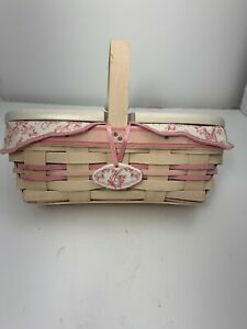 Longaberger Whitewashed Horizon Of Hope Basket (B)