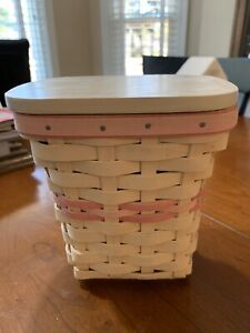 2004 Longaberger Whitewashed Horizon Of Hope Basket With Lid