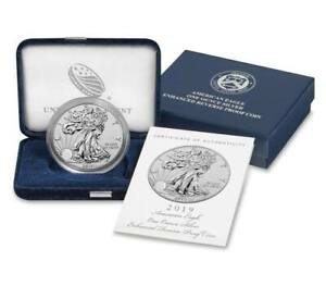 2019-S Enhanced Reverse Proof $1 American Silver Eagle Box OGP & COA - Pre-Sale
