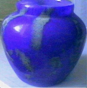 VERY RARE FRENCH COBALT BLUE ART DECO VASE by SCHNEIDER, SIGNED ca 1900's