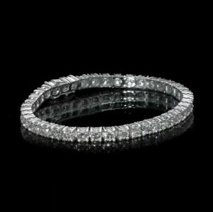 8.00 Carat Diamond Tennis Bracelet 14K White Gold D VVS2 NOT ENHANCED