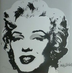 ANDY WARHOL MARILYN MONROE 1986 HAND NUMBERED 19202400 LITHOGRAPH signed