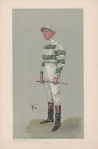 Original Vanity Fair Jockey Lithograph of J.E. Watts 1903.