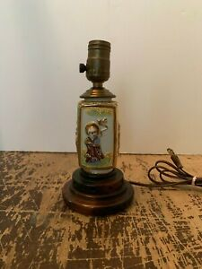 Vintage Ornate Japanese Satsuma Table Lamp