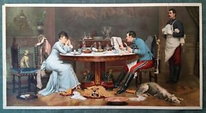 19th Century Antique Chromolithograph Print Knapp Co. Paintings Lithographs Art $35.63