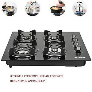 23.6#x27;#x27; Tempered Glass 4 Burner 2.75 3 KW Gas Stove Kitchen Cooktops Cooker Hob $189.99