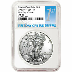 2020 W $1 American Silver Eagle NGC MS70 FDI First Label