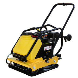 6.5HP Large Plate Walk Behind Vibratory Plate Compactor Rammer Water Tank C110T $749.99