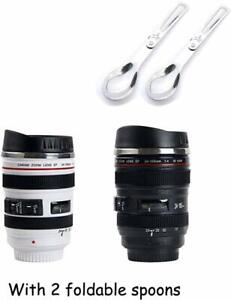 Sornean Camera Lens Coffee Mug Stainless Steel Insulated Tumbler Cup For Couples