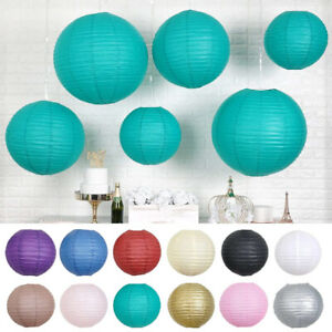 8 pcs Assorted Sizes Hanging Paper Lanterns Wedding Party Events Decorations