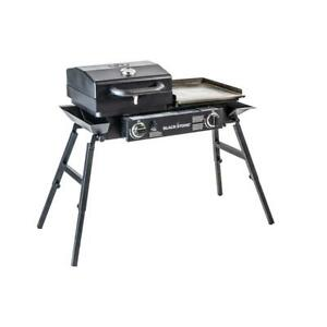 Blackstone Tailgating Griddle Grill Portable Propane Cast Iron Black 2-Burner