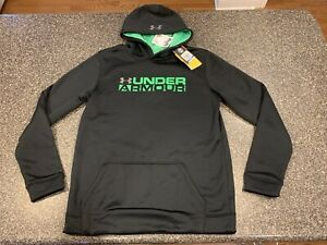 Under Armour Cold Gear Storm Hoodie Sweatshirt Youth Boys Youth XL BLACK Plain $27.00