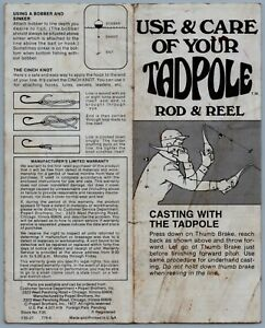 Tadpole Rod Reel Fishing Reel Manual R68
