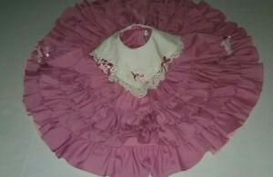 Vintage Girls Size 5 Lilo California Ruffles Dress  Full Circle Ruffles Pageant