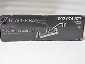 Glacier Bay Constructor 2-Handle Standard Kitchen Faucet in Chrome