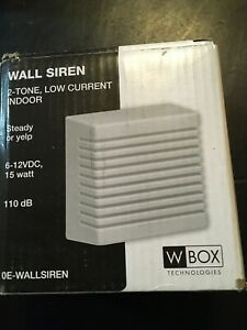 WBOX 0E WALLSIREN DUAL TONE WALL SIREN LOT OF 9