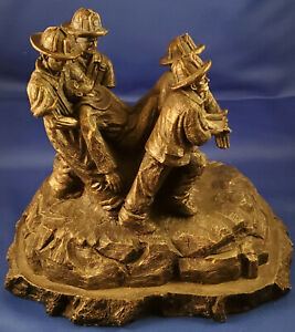 First From The Flames Firemen Christian Sculpture by Timothy Schmalz