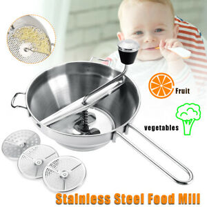 Food Mill Metal Vegetable Grinder Carrot/Tomato Mixer  Stainless Steel