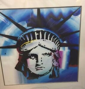 Large Peter Max signed