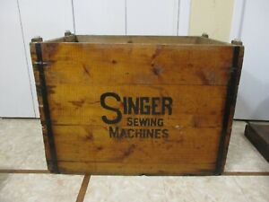 ENORMOUS Antique Wooden Singer Sewing Machine Shipping Crate Made In To Table $374.99