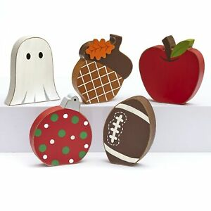 Winter and Fall Seasons Interchangeable Home Decoration Icons Set 5 Pieces $16.98