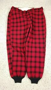 Vtg Woolrich Men's Buffalo Plaid Lined Hunting Pants 42x30 1960s 70s