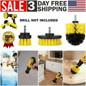 Drill Brush Power Scrubber Set 3 Pcs Drill Attachment Carpet Tile Grout Cleaning