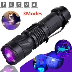 UV Ultra Violet LED Flashlight Blacklight 395nm 365nm Find Urine Bodily Fluids $4.99