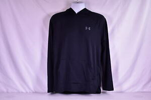 Mens Under Armour Tech 2.0 Heatgear Hooded Long Sleeve Shirt Black $18.00