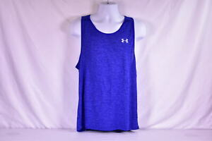 Mens Under Armour Heatgear Tech Tank Top 2.0 Royal Blue $15.60