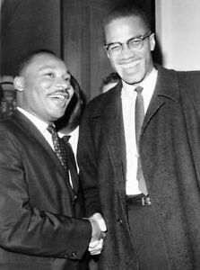 MALCOLM X amp; MARTIN LUTHER KING GLOSSY POSTER PICTURE PHOTO PRINT CIVIL RIGHTS