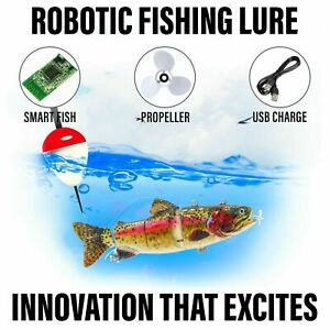 Electric Live bait, Robotic Segment Fishing Lure Animated Swimbait Wobbler