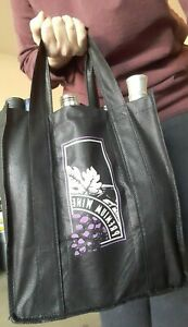 Wine Beer Drink Tote Bag Collapsible Carrier with Handles 6 Bottles New
